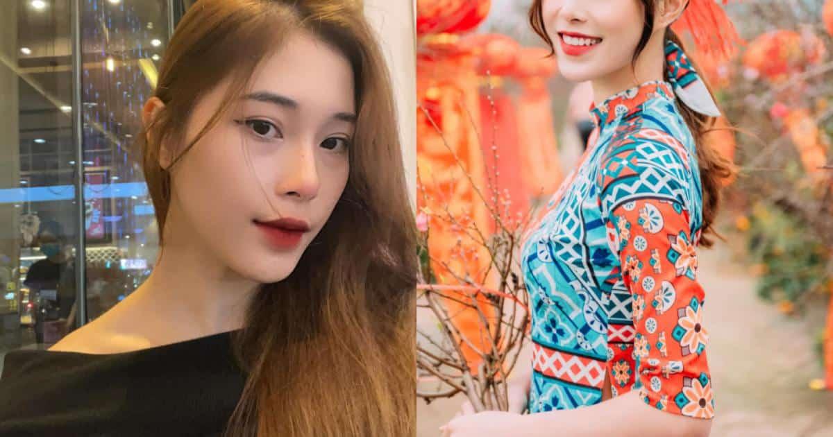 """""""Hot girl bóng chuyền"""" diện áo dài khoe dáng yêu kiều đón Xuân - Người đẹp"""