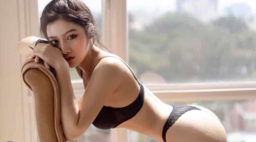 Mê mẩn với nhan sắc của model Trần Kim Hà