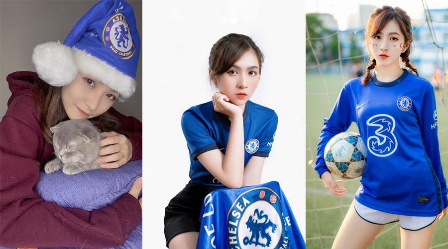 Xinh đẹp, mê bóng đá 9x, fan Chelsea gây sốt cộng đồng mạng Việt