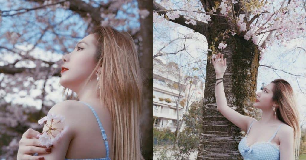 Dương Quỳnh Lisa rạng rỡ giữa vườn đào Paris - Người đẹp