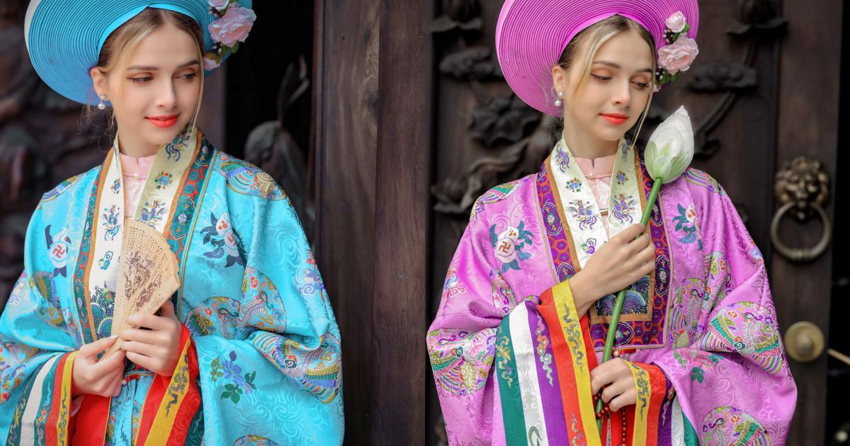 Người mẫu Ukraine thích mặc cổ phục Việt - Người đẹp