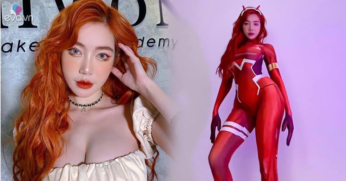 Elly Trần xinh đẹp như búp bê với mái tóc mới màu lửa