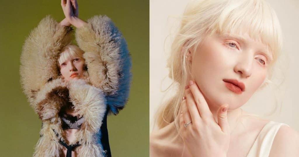 Người mẫu Nga bạch tạng có vẻ ngoài giống búp bê - Người đẹp