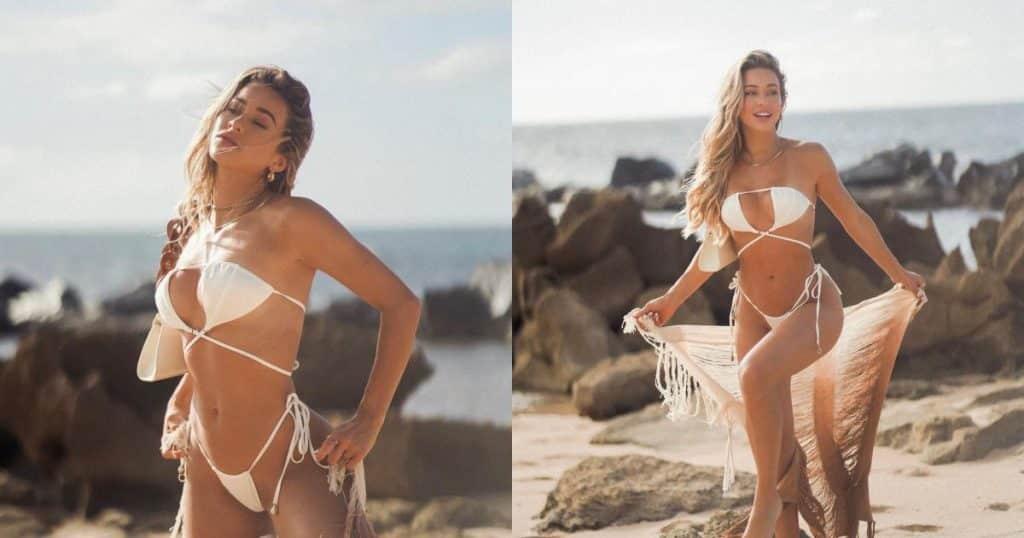 Mẫu nội y nóng bỏng Cindy Prado đốt mắt fan với bikini nhỏ xíu - Người đẹp