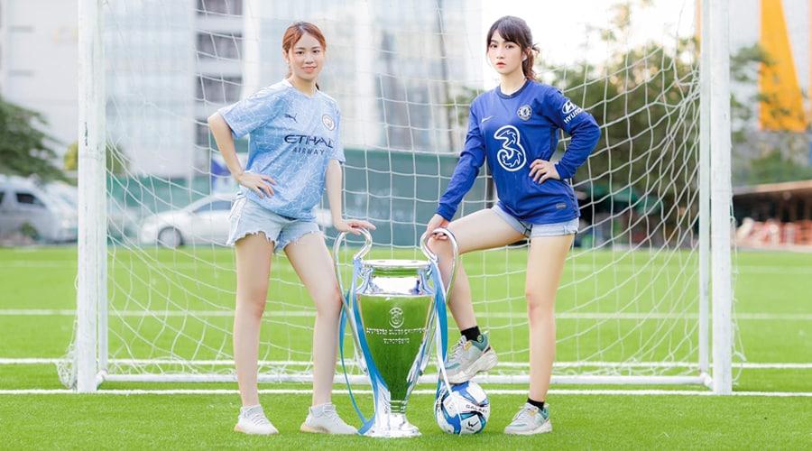 Fan nữ Man City - Chelsea hâm nóng trận chung kết C1