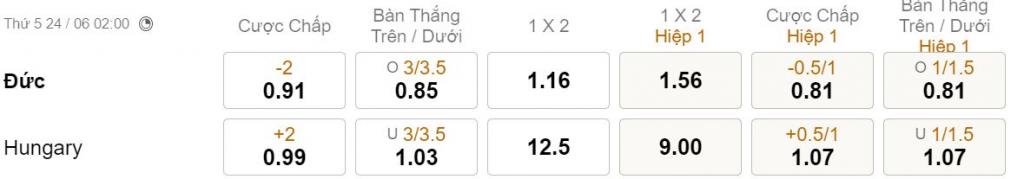 Soi keo tai xiu Duc vs Hungary 02h00 ngay 246