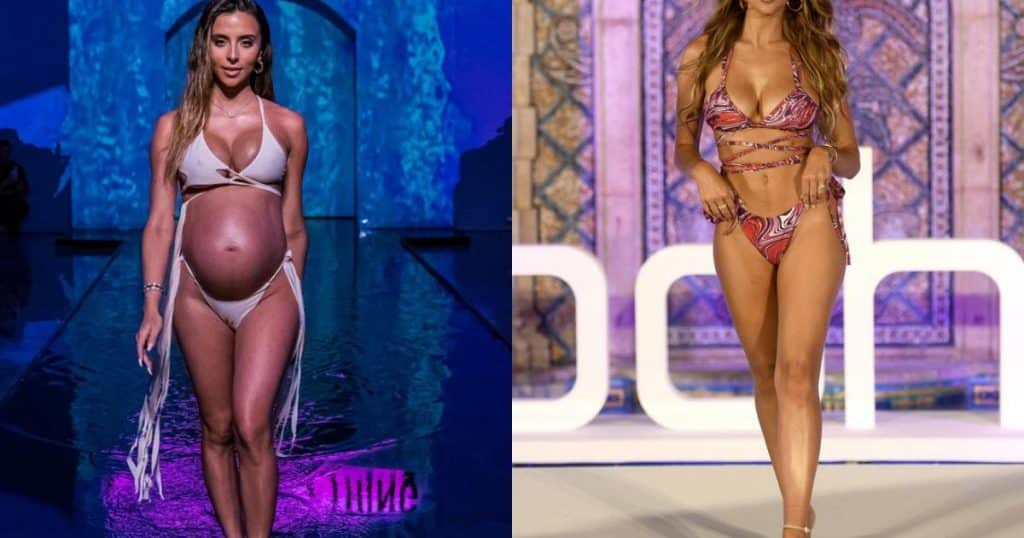 Con gái Hoa hậu thế giới bốc lửa trong tuần lễ thời trang áo tắm Miami - người đẹp